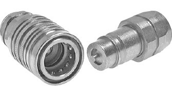 hydraulic couplings for agricultural and construction machines, ISO 7241-1 A
